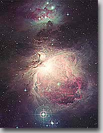 Messier 42, The Great Nebula in Orion - about 1 degree from the UK Schmidt telescope